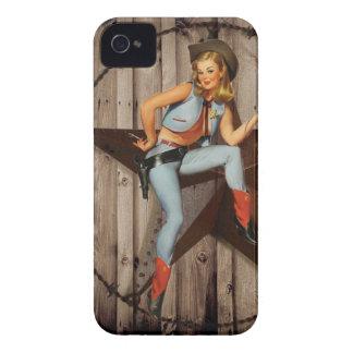 Scheunen-hölzernes Texas-Stern-Westernland Cowgirl iPhone 4 Cover
