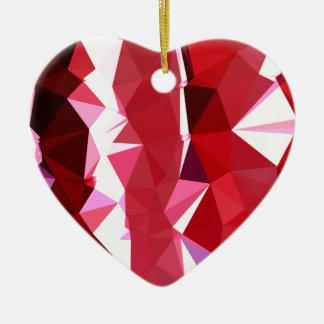 Scheunen-roter abstrakter niedriger keramik ornament