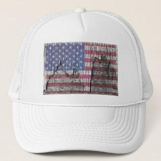 Scheunen-Schale gemalte patriotische amerikanische Truckerkappe