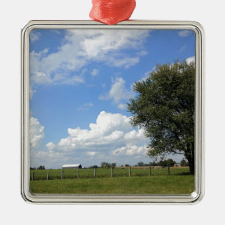 Scheunen-Tage Silbernes Ornament