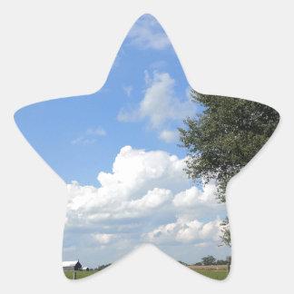 Scheunen-Tage Stern-Aufkleber