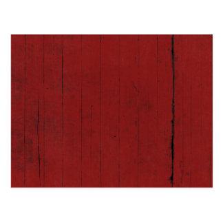 Scheunen-Tür-roter hölzerner Hintergrund Postkarte