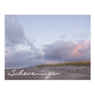 Scheveningen-Küstensonnenuntergang-Textpostkarte Postkarte