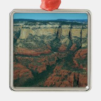 Schichten rote Felsen I in Sedona Arizona Quadratisches Silberfarbenes Ornament
