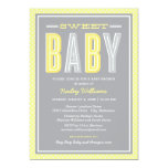Schicke Art der Babyparty-Einladungs-| - gelbes Einladungen