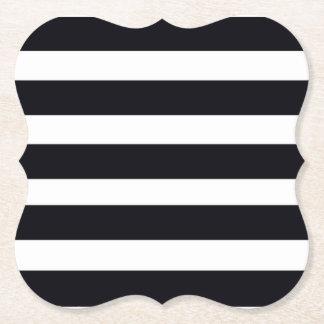 Schicke elegante moderne Schwarzweiss-Streifen Untersetzer