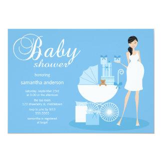 Schicke Frauen-Babyparty-Einladung - Junge 12,7 X 17,8 Cm Einladungskarte
