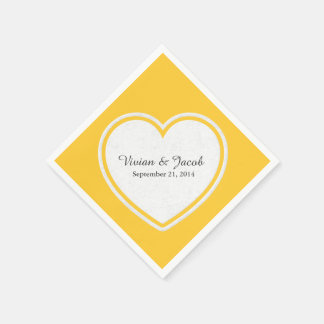 Schicke gelbe und weiße kundenspezifische servietten