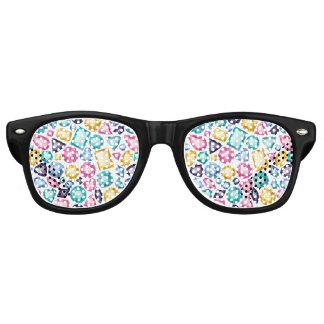 Schicke Girly glänzende Diamant-Edelsteine Sonnenbrille