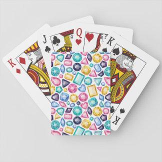 Schicke Girly glänzende Diamant-Edelsteine Spielkarten