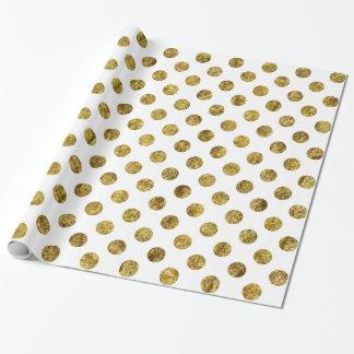 Schicke Goldzauber-Punkte Geschenkpapier