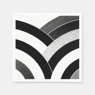 schicke hoch entwickelte moderne Sparren Papierserviette