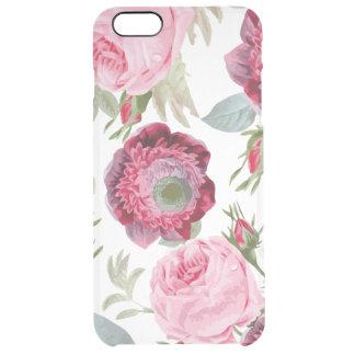 Schicke Land-Unterzeichnung mit Blumen Durchsichtige iPhone 6 Plus Hülle