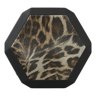 Schicke Leopard-Stellen-lederner Korn-Blick Schwarze Bluetooth Lautsprecher