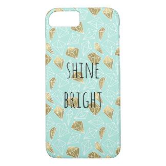 Schicke Minzen-und Golddiamanten glänzen helles iPhone 8/7 Hülle