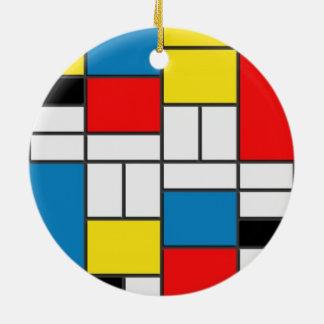 Schicke Mondrian Kubismus-Art Keramik Ornament