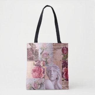 Schicke rosa Retro Collagentasche für Strand oder Tasche