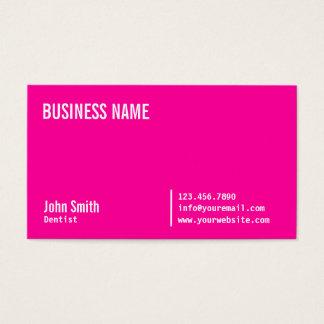 Schicke rosa Zahnarzt-NeonVisitenkarte Visitenkarte