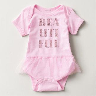 Schicke schöne Typografie Baby Strampler