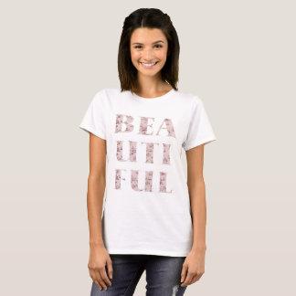 Schicke schöne Typografie T-Shirt