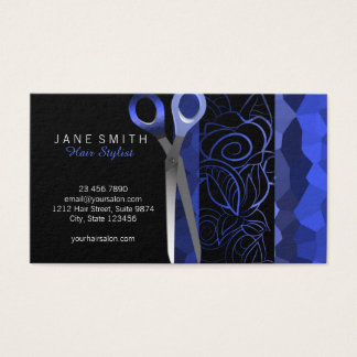 Schicke stilvolle scissor Verabredungskarte Visitenkarte