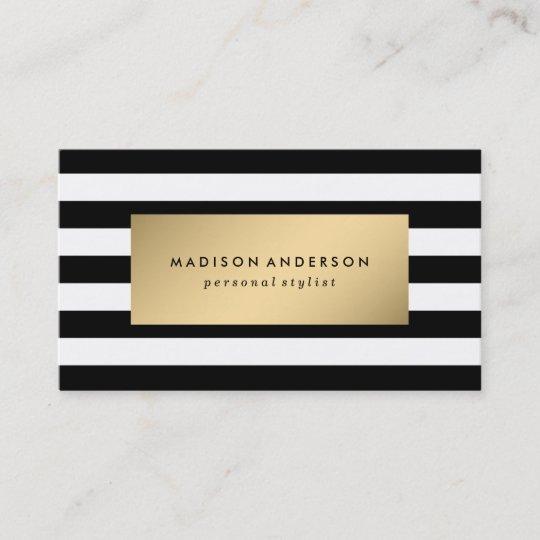 Schicke Streifen Visitenkarten In Den Gold Visitenkarte
