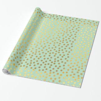 Schicke tadellose Goldconfetti-Punkte Geschenkpapier