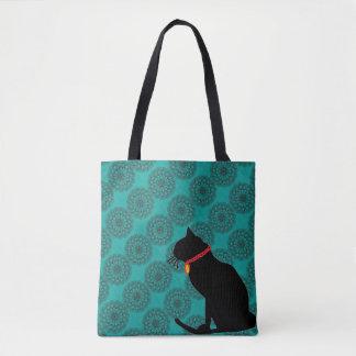 Schicke Tasche der schwarzen Katze des Aqua für Tasche