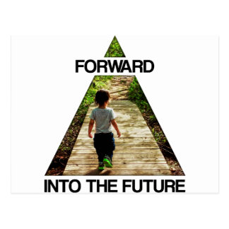 Schicken Sie in die Zukunft nach Postkarte