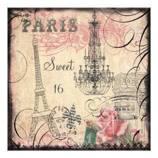 Schicker Eiffelturm-u. Leuchter-Bonbon 16 Individuelle Ankündigungskarte