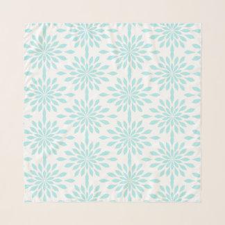 Schicker geometrischer Entwurf, Aqua auf Weiß Schal