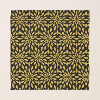 Schicker geometrischer Entwurf, Gold auf Schwarzem Schal