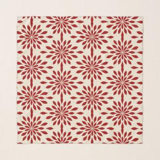 Schicker geometrischer Entwurf, rot auf Schal