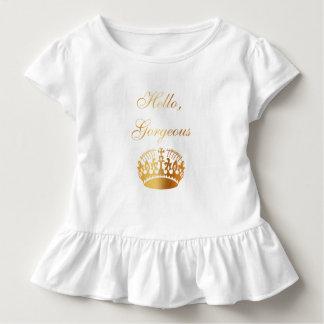 Schicker girly Luxusentwurf des Goldzitats Kleinkind T-shirt