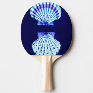 schicker Küstenstrand rustikale blaue Tischtennis Schläger