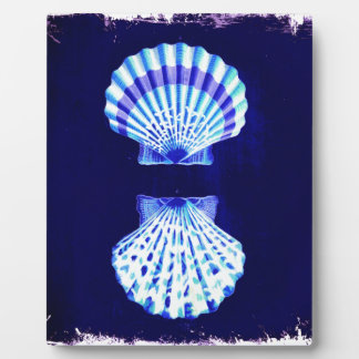 schicker Küstenstrandrustikale Seemarine Seashells Fotoplatte