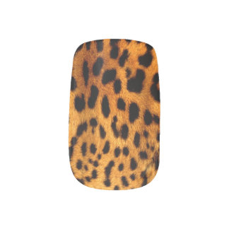 schicker moderner girly Leoparddruck Minx Nagelkunst