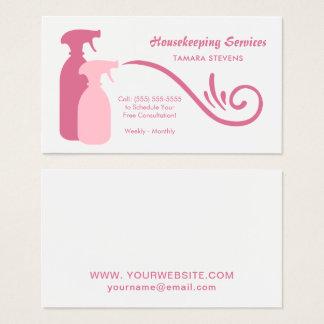 Schicker rosa Spray füllt Visitenkarte