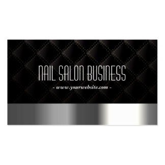 Schicker silberner Nagel-Salon-dunkle