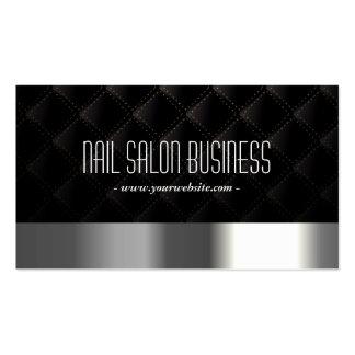 Schicker silberner Nagel-Salon-dunkle Visitenkarten