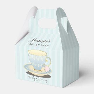 Schicker Teacup im blauen Geschenkkartons