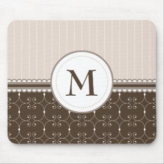 Schickes beige kundenspezifisches mousepads