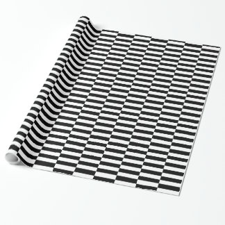 SCHICKES BLACK/WHITE STRIPES PACKPAPIER