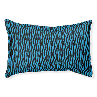 Schickes blaues Zebra-Druck-Muster Haustierbett