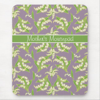 Schickes BlumenMousepad: Maiglöckchen, Mousepad