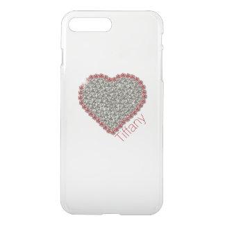 Schickes Diamant-Herz kundenspezifisches klares iPhone 7 Plus Hülle
