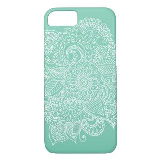Schickes elegantes schönes Paisley-Gekritzel iPhone 8/7 Hülle