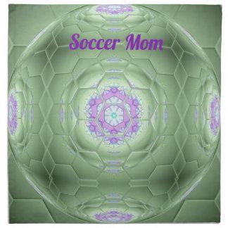 Schickes 'Fußball-Mamma-Grün-künstlerisches Muster Serviette