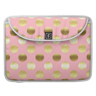 Schickes Goldfolien-Tupfen-Rosa Sleeve Für MacBook Pro