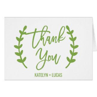 Schickes Grün winden Kalligraphie danken Ihnen Karte